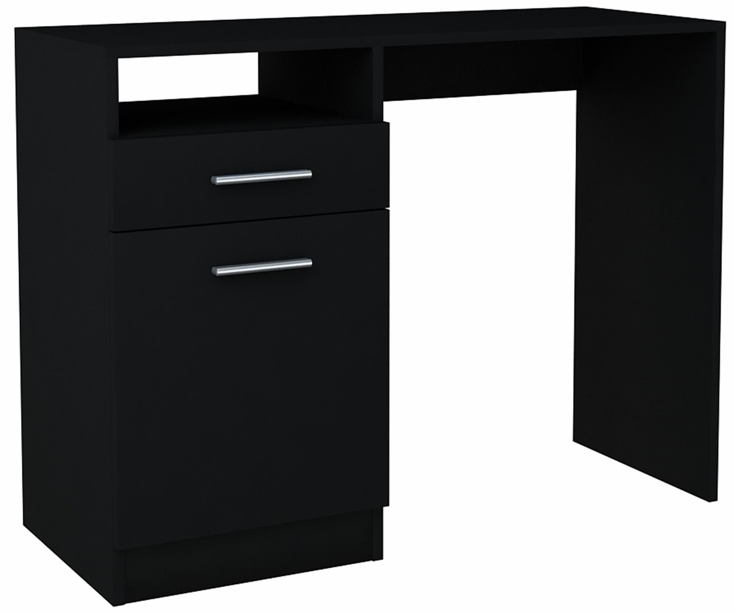 Písací stôl, šatník BODO DSP 100 cm ČIERNA skrinka bielizníka