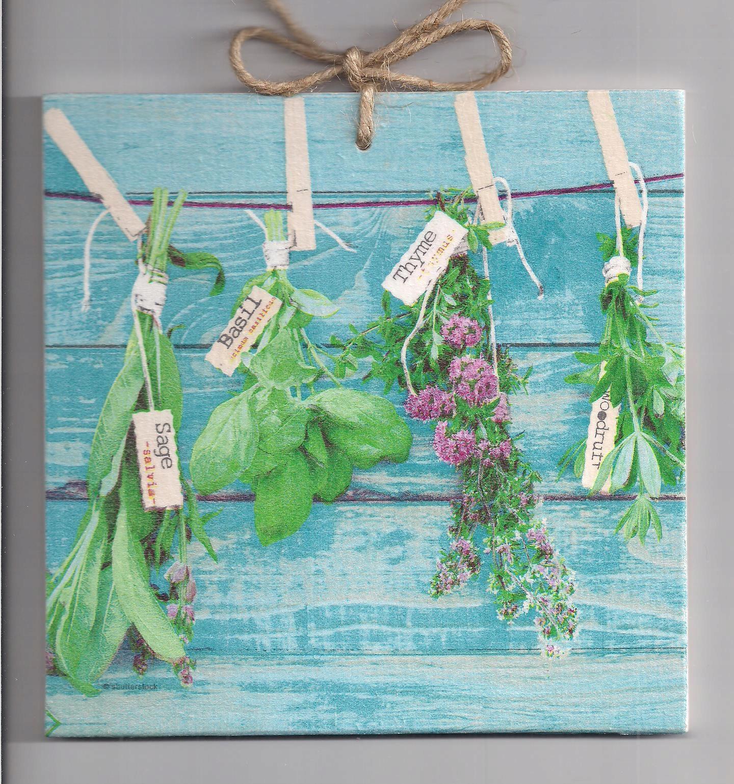 Bazalka, tymian a byliny v kuchyni, ročník obrázok