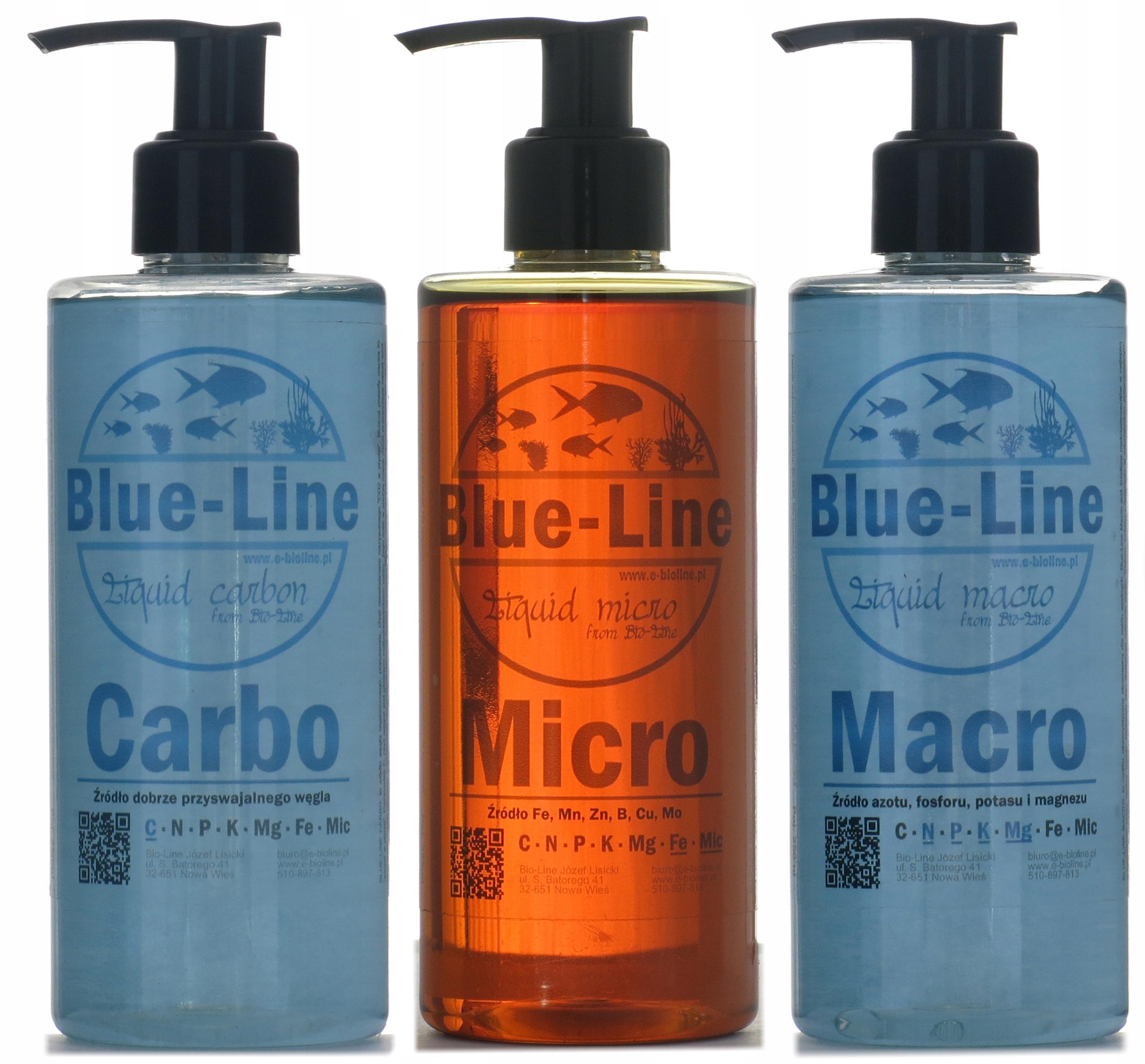 Blue-Line Micro, Macro и Карбо - удобрения в аквариум