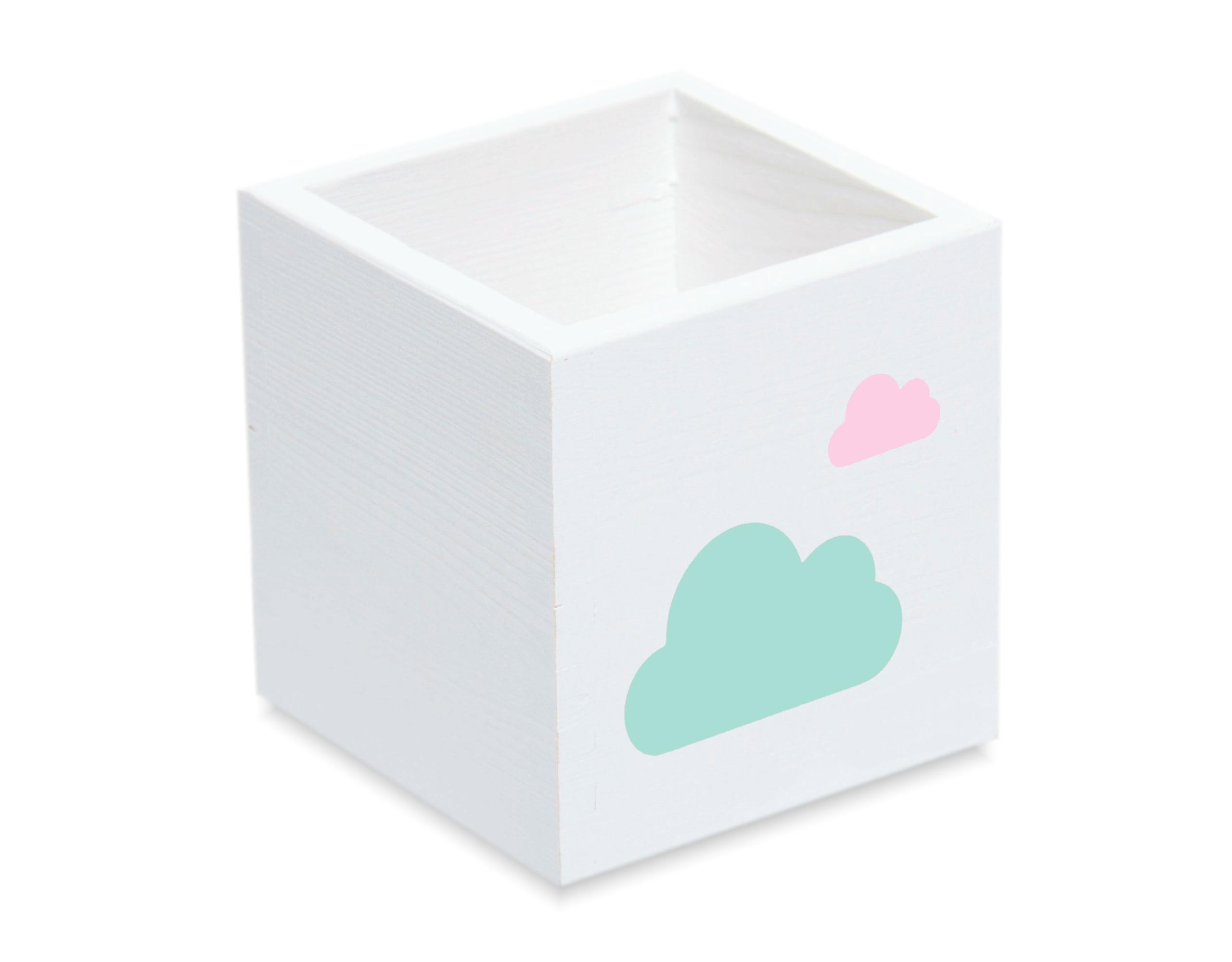 Контейнер для мелков большая коробка на стол для облаков