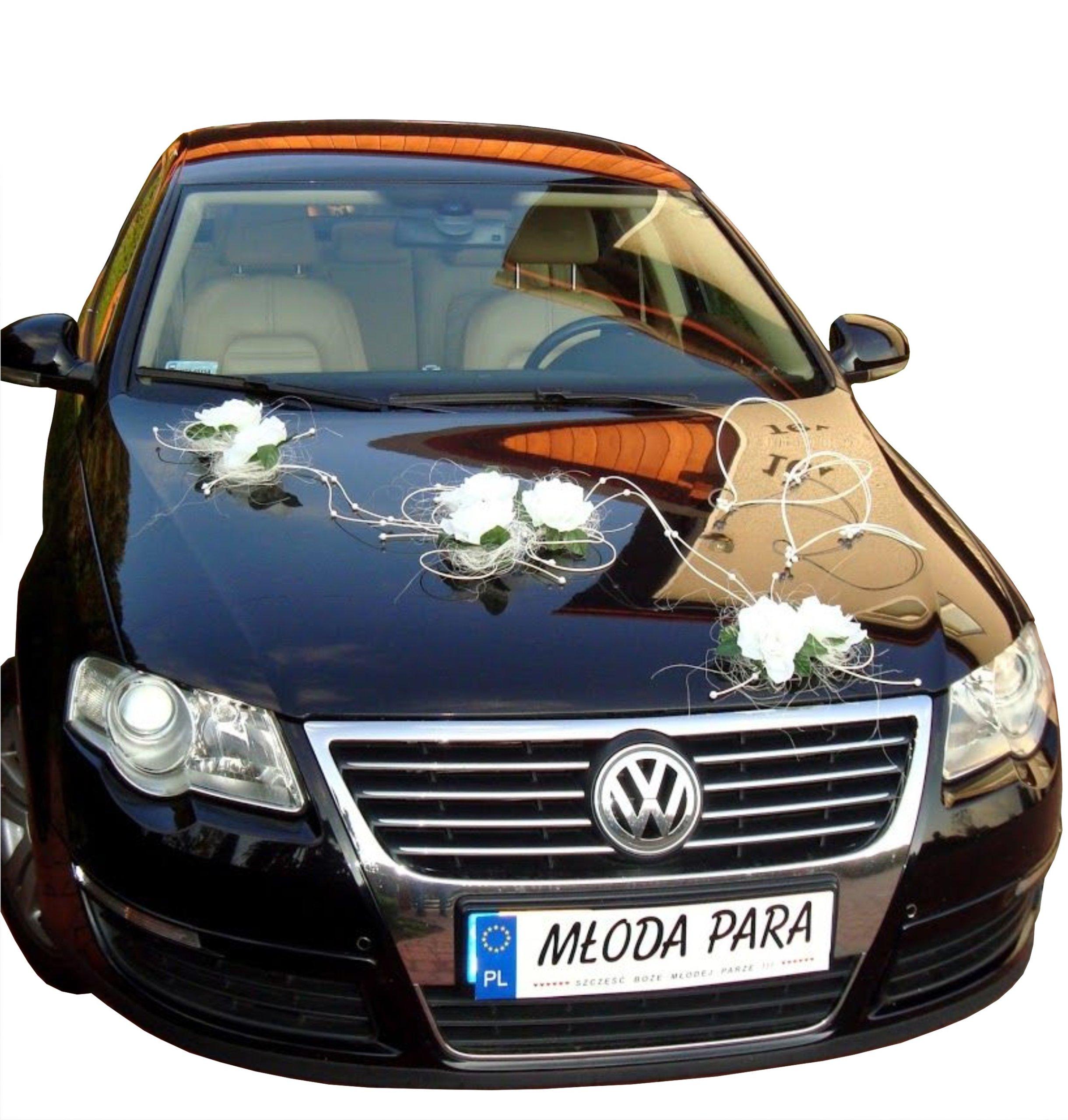 1 декорация автомобиля на автомобиль свадебный промоция
