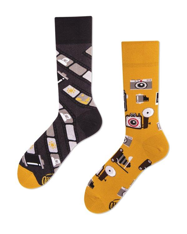 Farebné Ponožky MANYMORNINGS Retro Fotoaparát 43-46