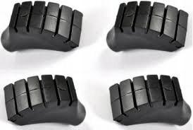 10x topánky uzáver špička tyčinky Nordic B2 palice