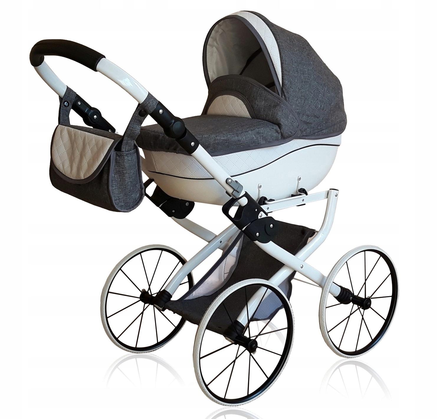 Kočík pre bábiky, * RETRO *, vozík na bábiky z ekokože