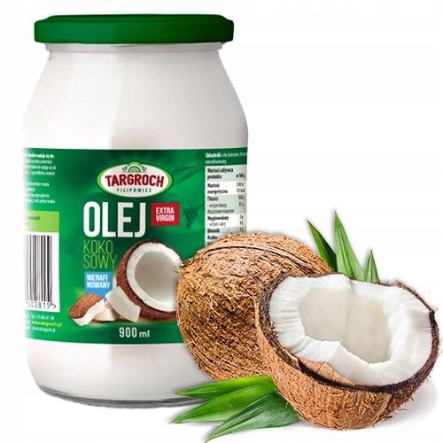 Olej Kokosowy Nierafinowany Extra Virgin 900ml