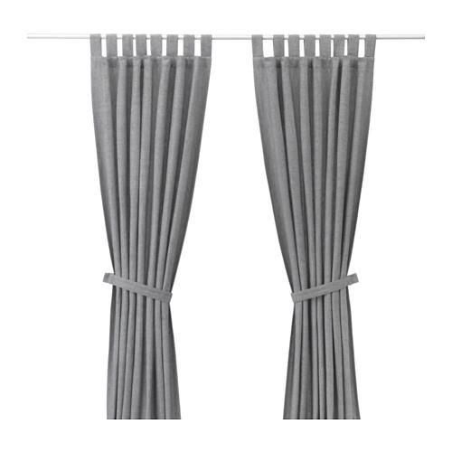 IKEA záves s kravatu 140x300 cm LENDA sivá