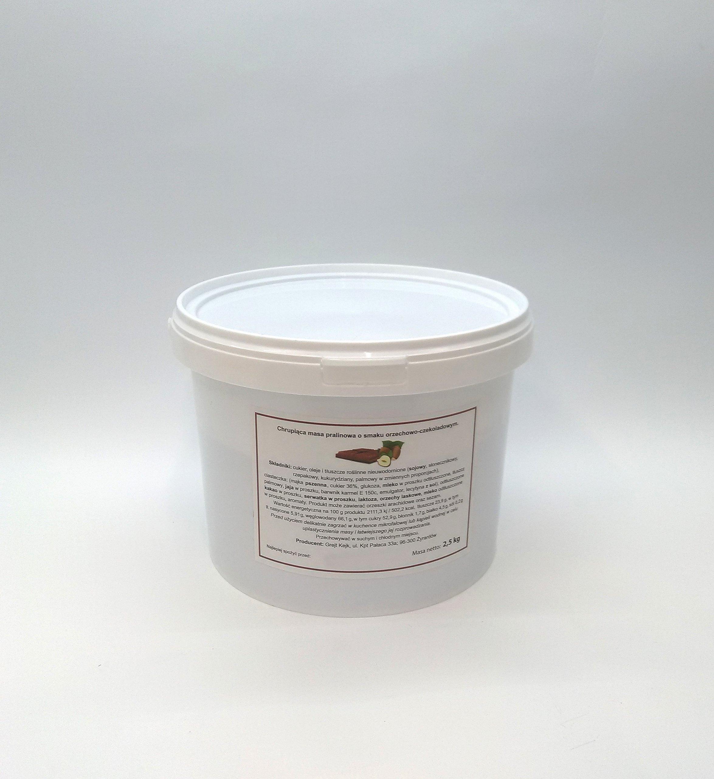 Chrumkavé koláč pralina hmotnosť 2,5 kg čokolády