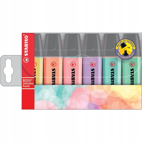 Item Marker Stabilo Boss pencil case 6 x pastel
