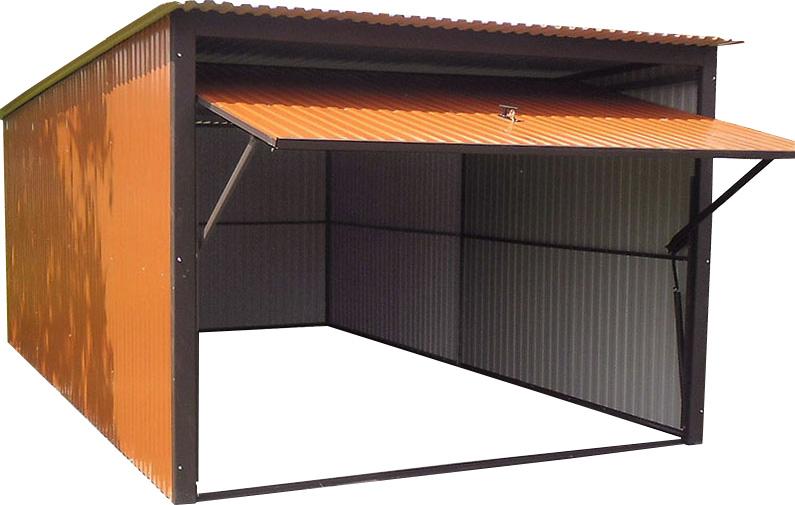 Металлические гаражи 3х5. Металлический гараж. Цвет: RAL 8004.