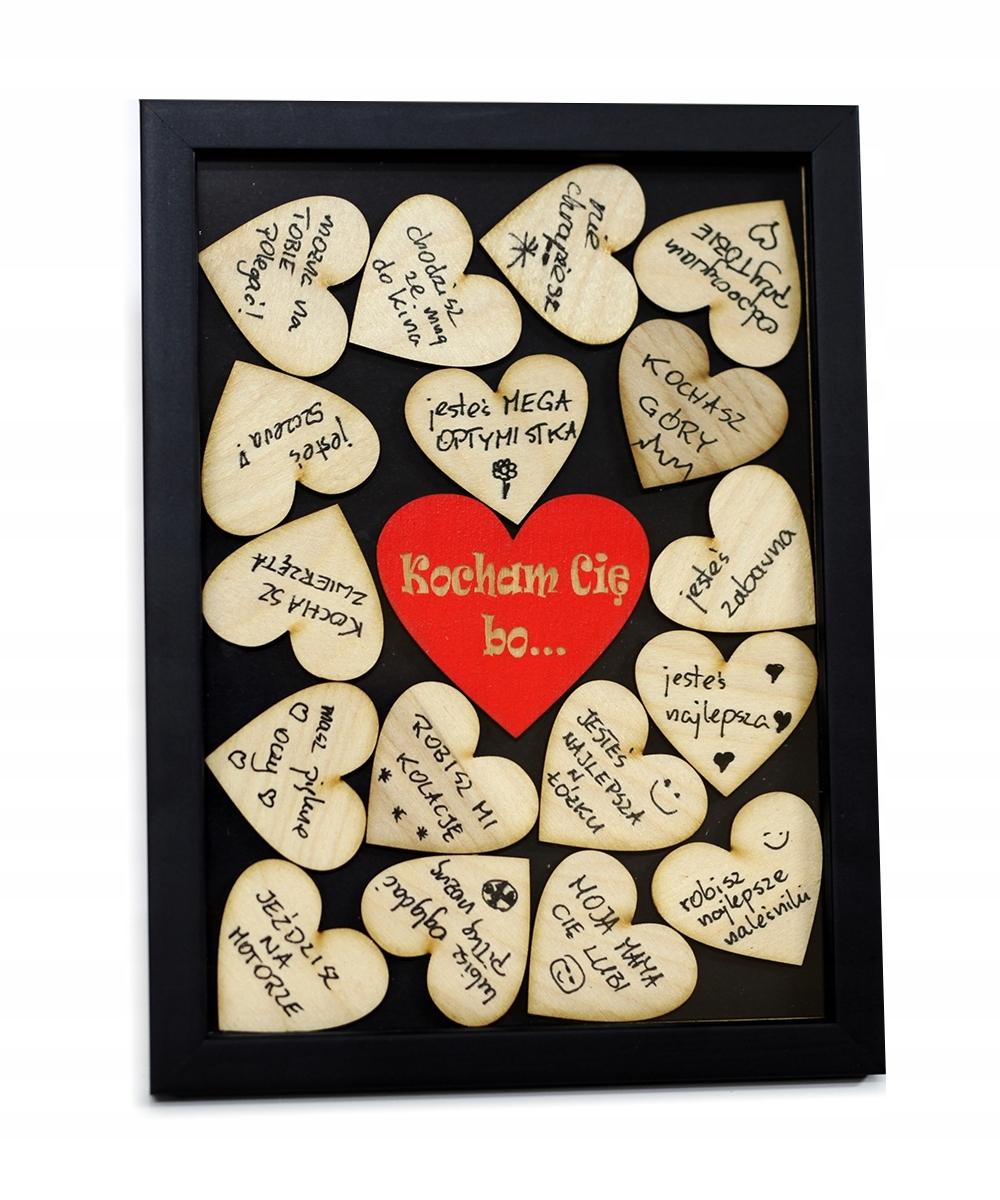 Darček pre Valentína 3D rám drevené srdce zasiahli