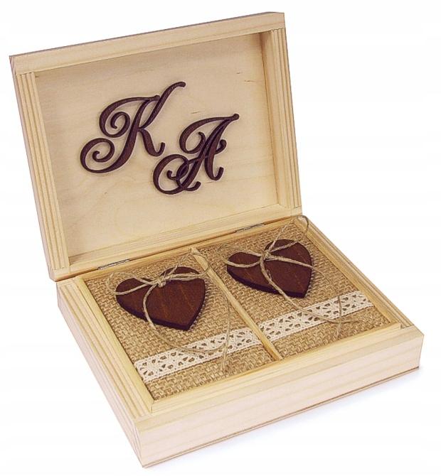 Pudelko деревянные на обручальные кольца подушка гравер свадьба