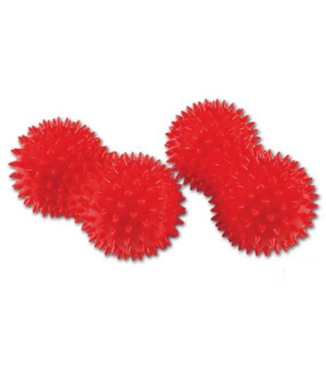 Praktický masážny hriadeľ 8 x 15 červená matica