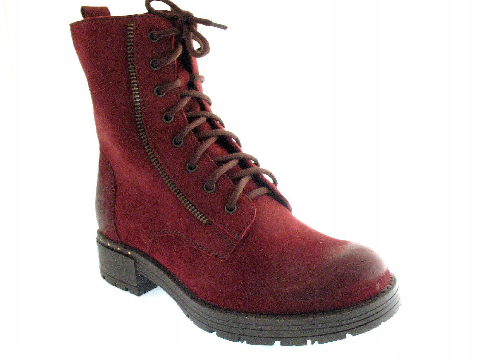 c019f075f0b9c SKÓRZANE trzewiki OCIEPLANE damskie buty STELLA 38 7611742041 - Allegro.pl