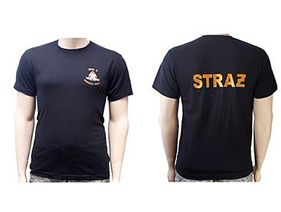 Футболка пожарная T-Shirt ВЫШИВКА пожарная охрана ОПС доставка товаров из Польши и Allegro на русском