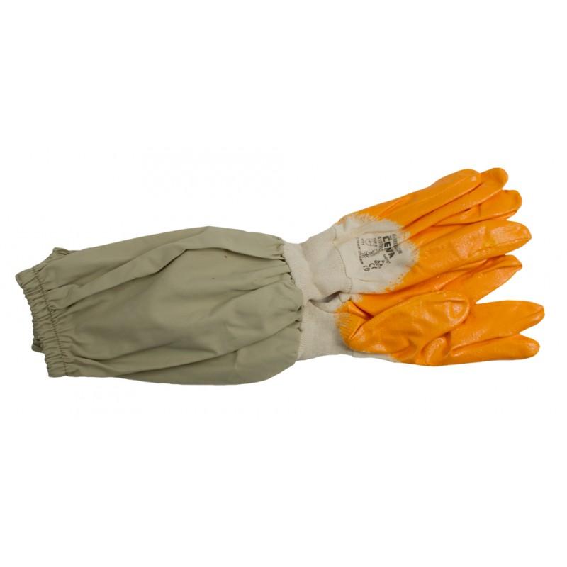 Перчатки резиновые с полотном пчеловодства 6027