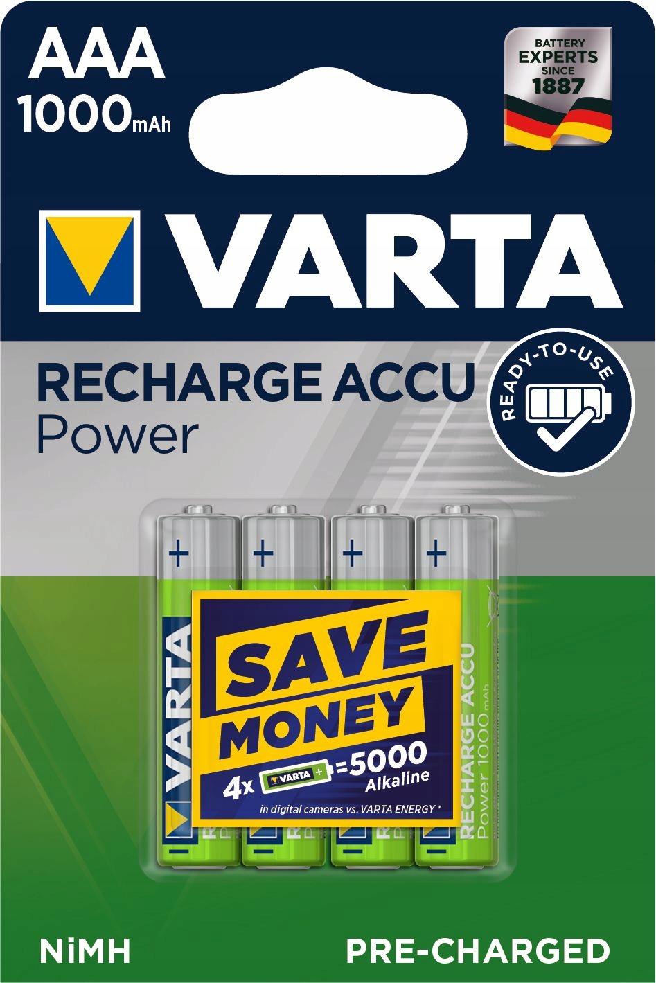 Akumulatorki 4x R03/AAA VARTA READY2USE 1000 mAh