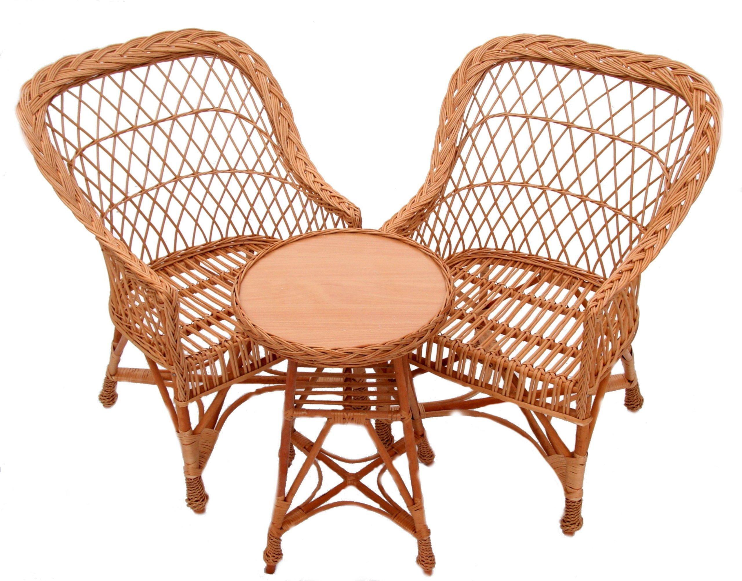 Prútené záhradné stoličky, výrobca prútených stolov