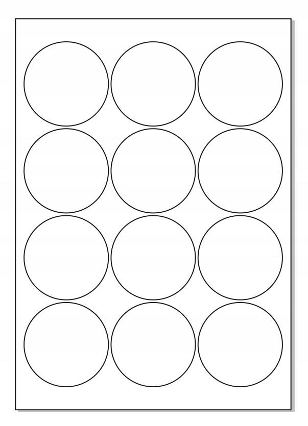 Nálepky A4 FI 60 Štítok Okrúhly kruh / 10