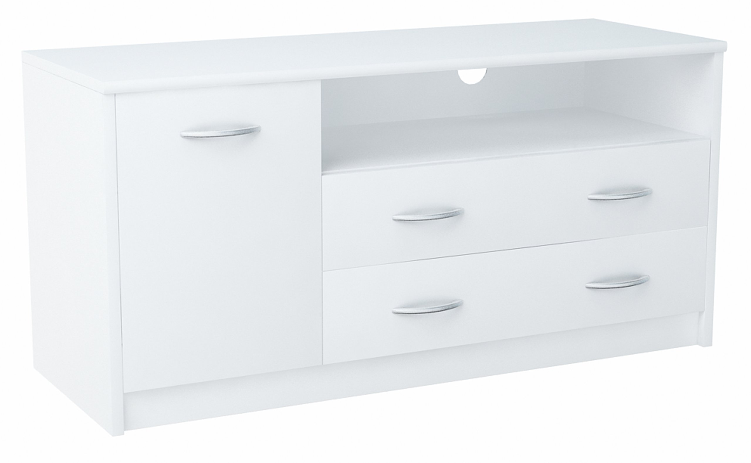 Шкаф столик RTV 1D2S белая комод 2 ящик