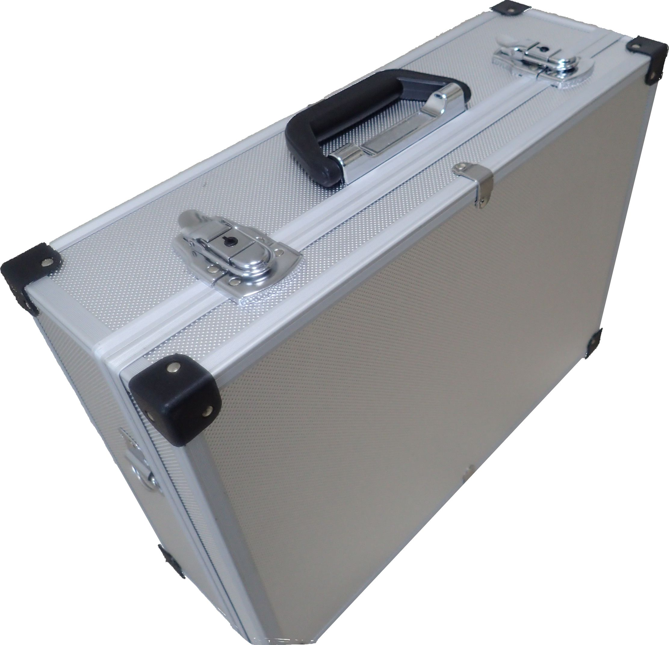 Item LARGE ALUMINUM BRIEFCASE ON THE WORKSHOP EQUIPMENT