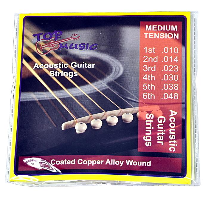 Zvukové akustické gitarové reťazce + kocky