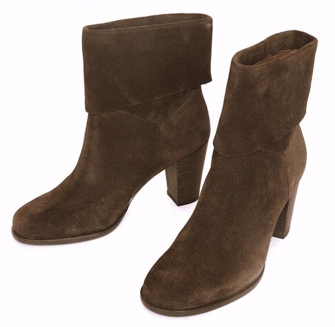 MARC O'POLO _ členkové topánky semiš vintage elegantné