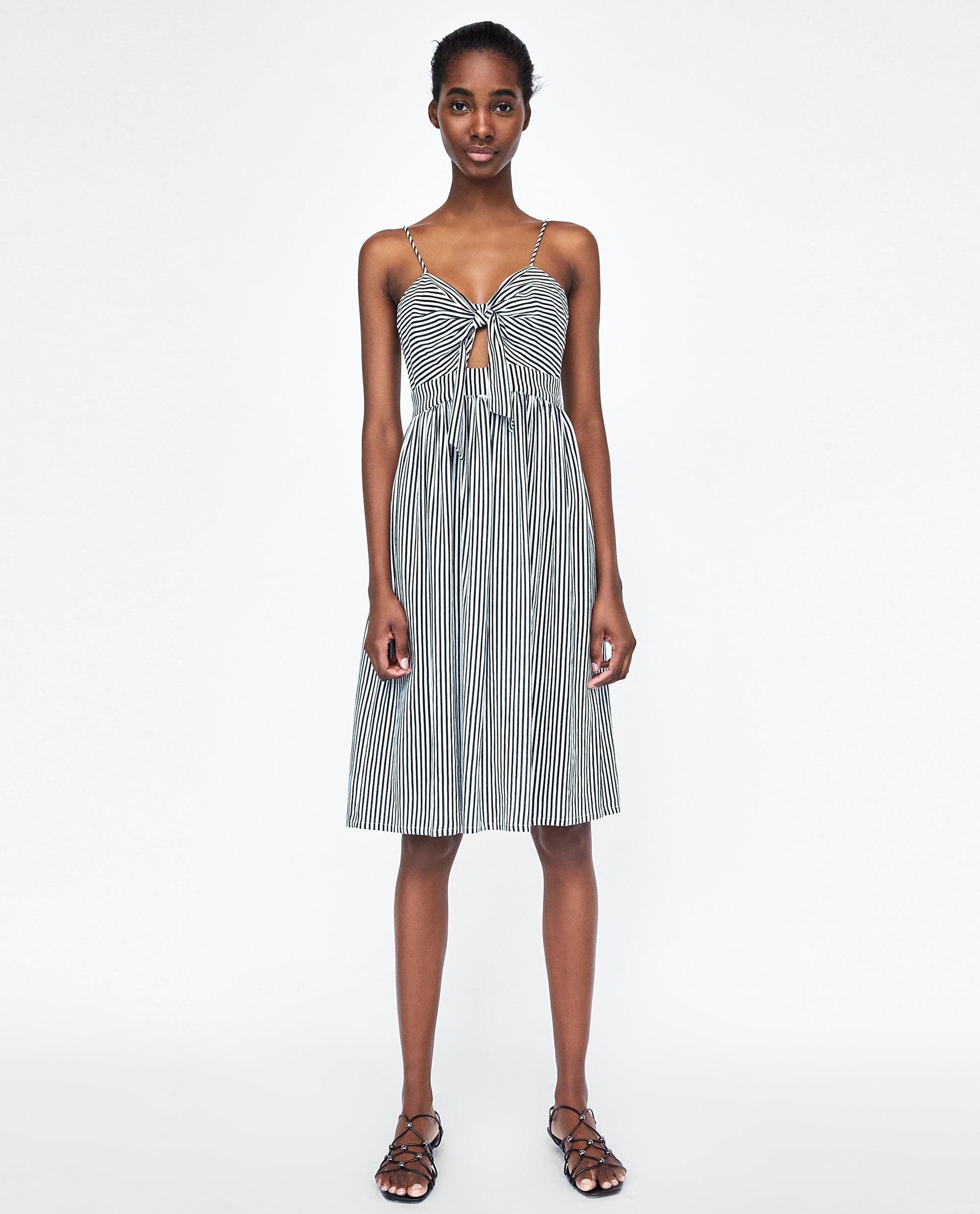 sukienka w prazki zara
