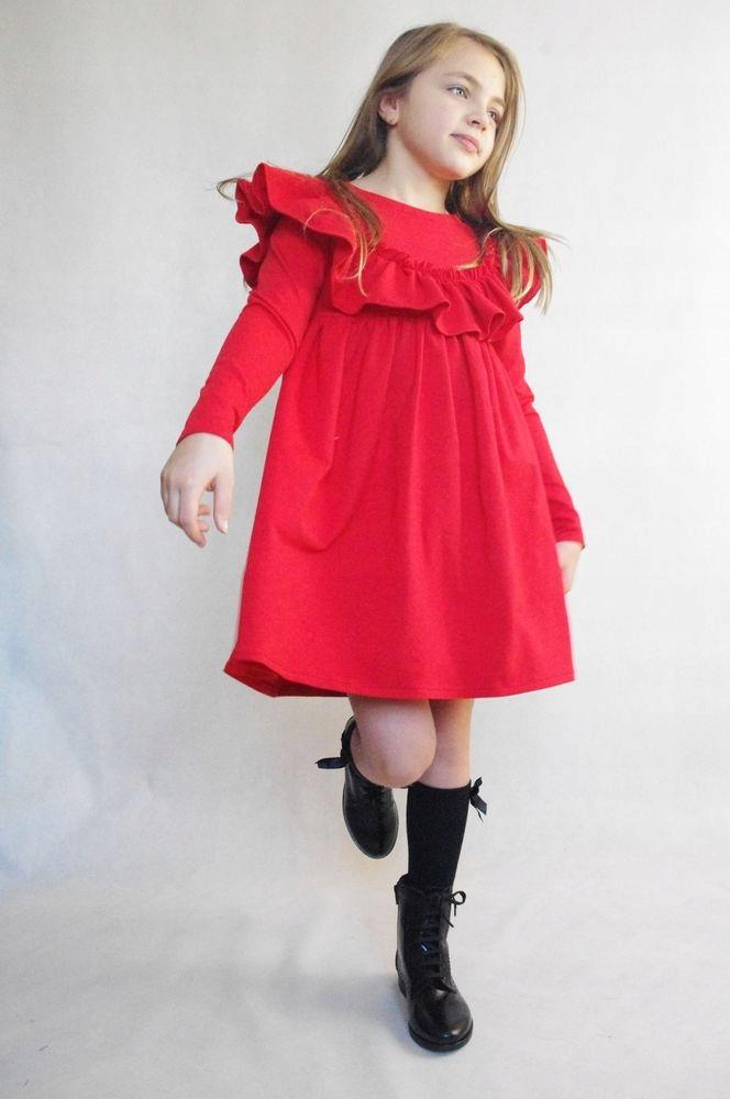 ŠATY, oblek potu Červená Sen 68/74 poľský výrobok