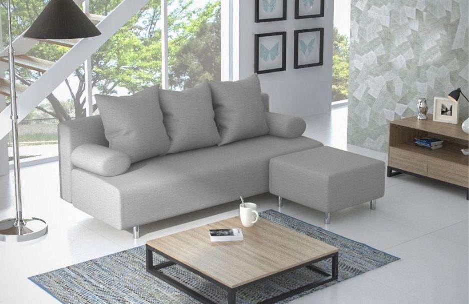 Диван-кровать диван-кровать ЛЬЮИС с PUFA функция сна доставка товаров из Польши и Allegro на русском