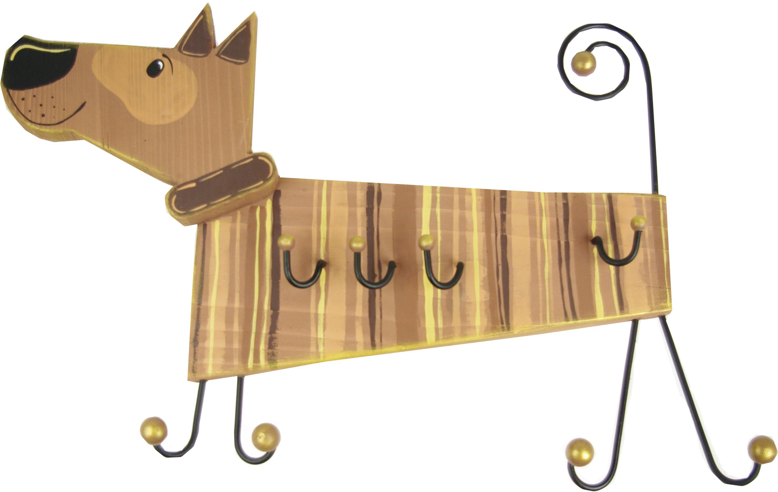 Vešiak psa ručne maľované
