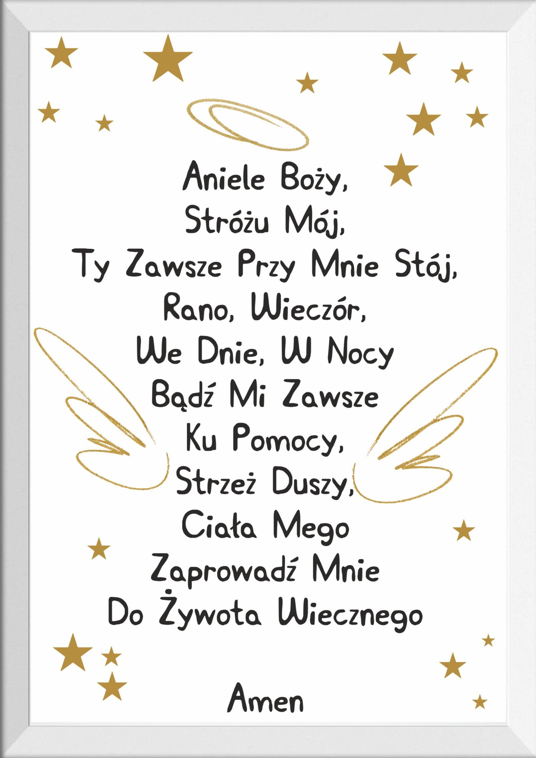 PLAKAT MODLITWA ANIELE BOŻY prezent A3 MAXWYBÓR 7789202875 - Allegro.pl
