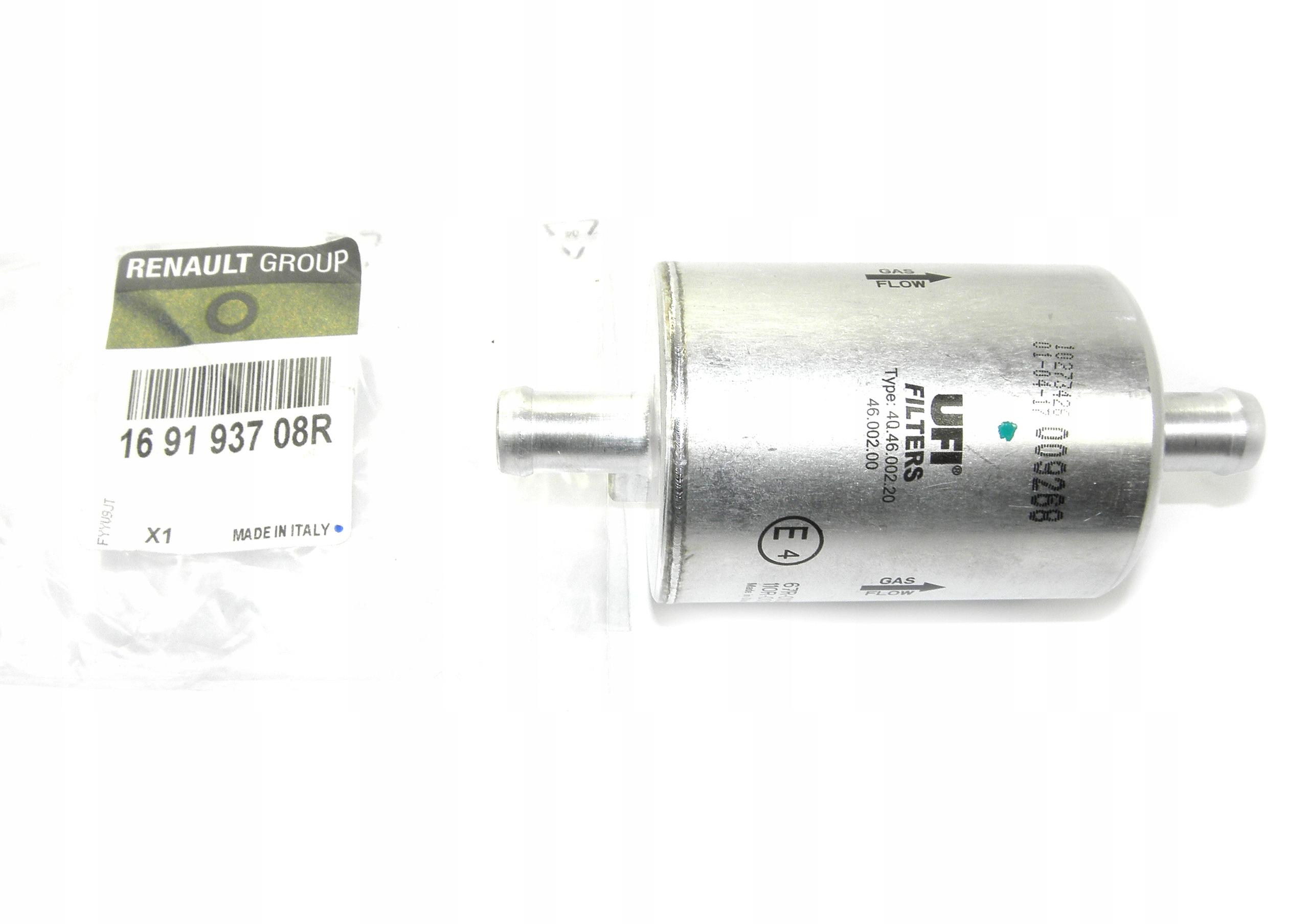 фильтр газа фазы мобильная снг dacia 169193708r