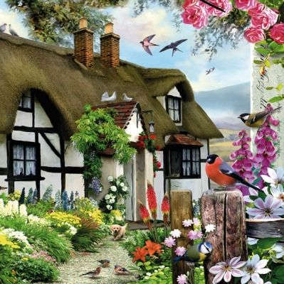 vidiecky dom - vintage kreslenie