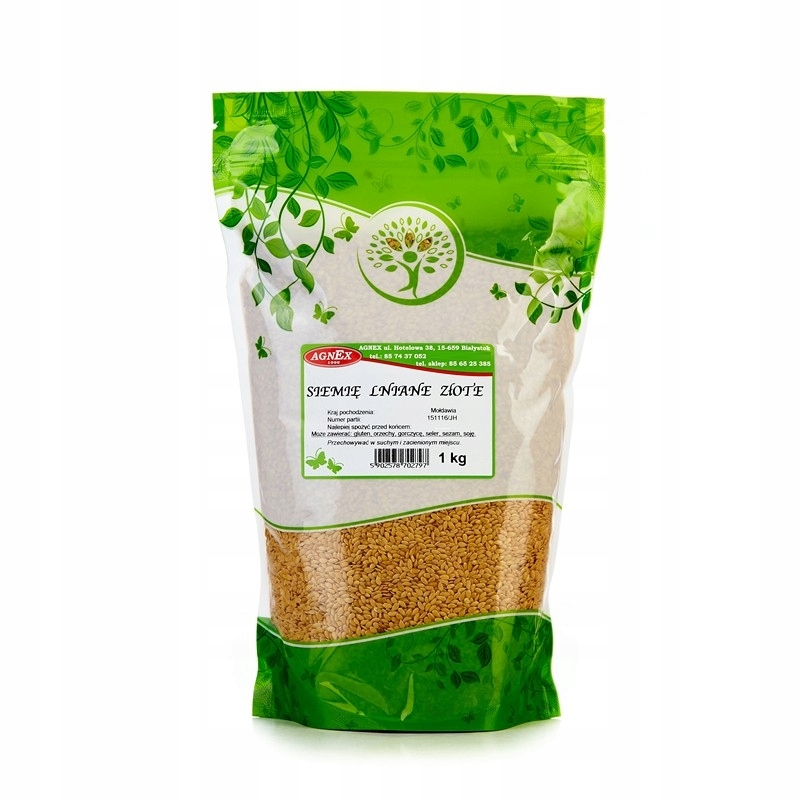 GOLDEN LINSEED GOLDEN Flax 1 кг budwig