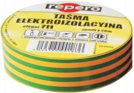 Taśma izolacyjna 711E 19mm x 20m Żółto-Ziel 003260