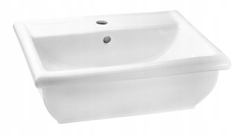 """Umývadlo keramické Retro """" 55 cm biele Hybner"""