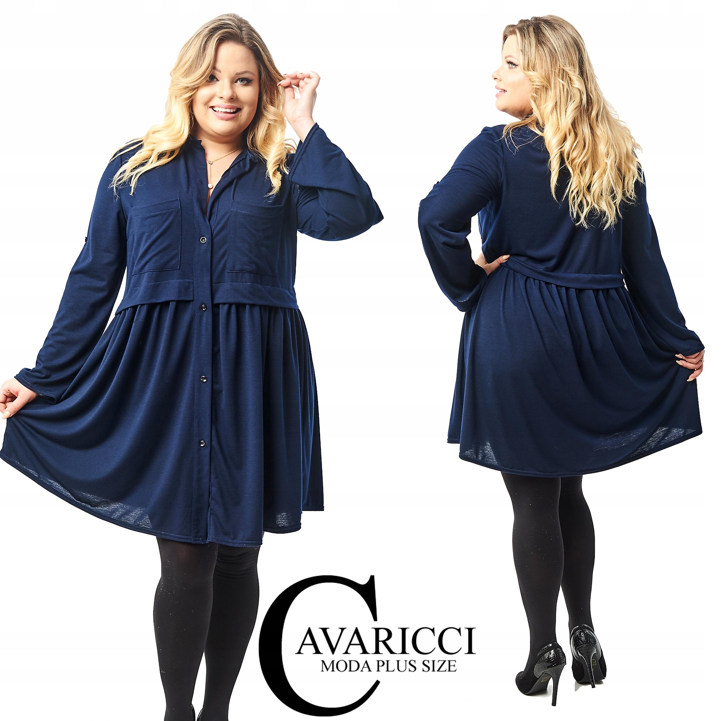 dc6feeb81b CAVARICCI PLUS SIZE suknia ZARKA S-62 XXL XXXL 7577459614 - Allegro.pl