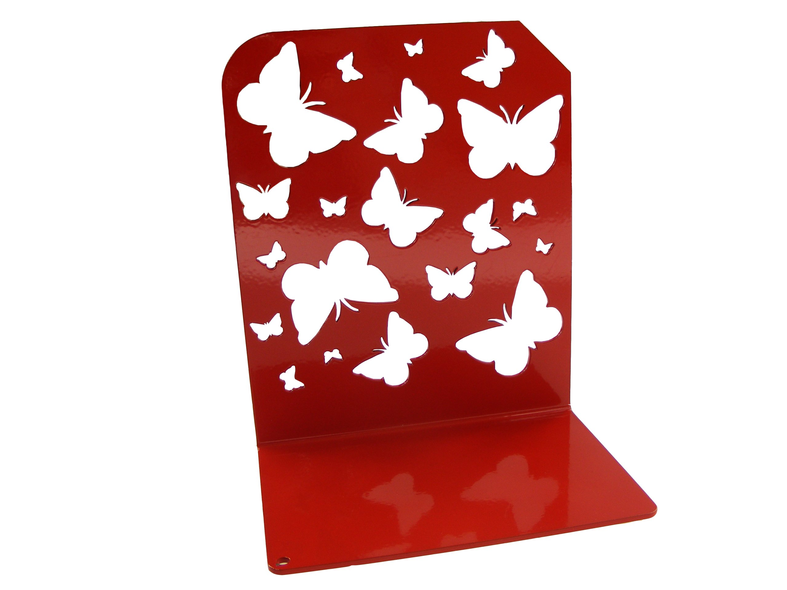 Podpórka na książki motyle metal stal różne kolory