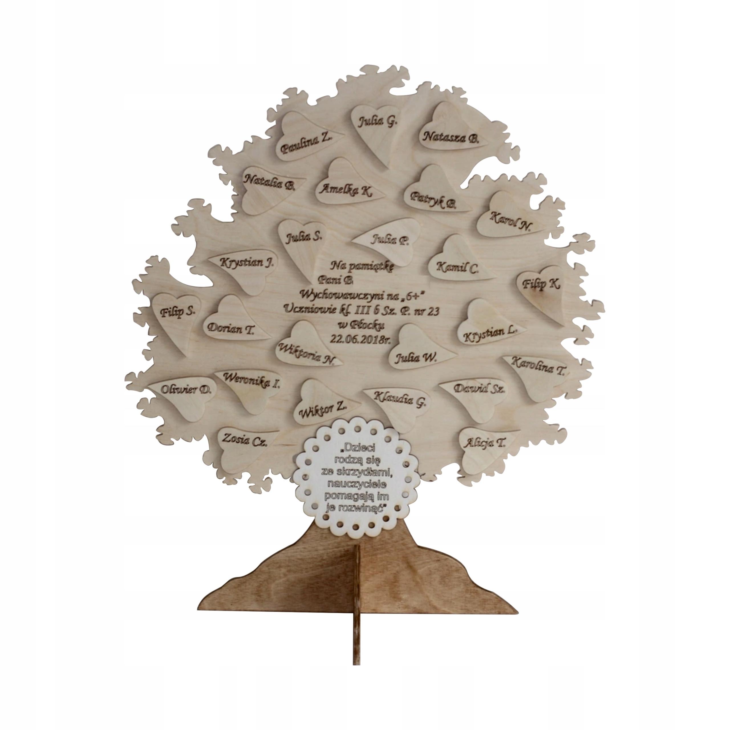 cd8e6a28a8182 pamiątka dla nauczyciela wychowawcy prezent drzewo 7370727015 - Allegro.pl