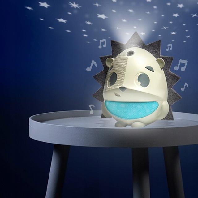 Projektor/music Box/Stropná lampa so senzorom plač Ježko