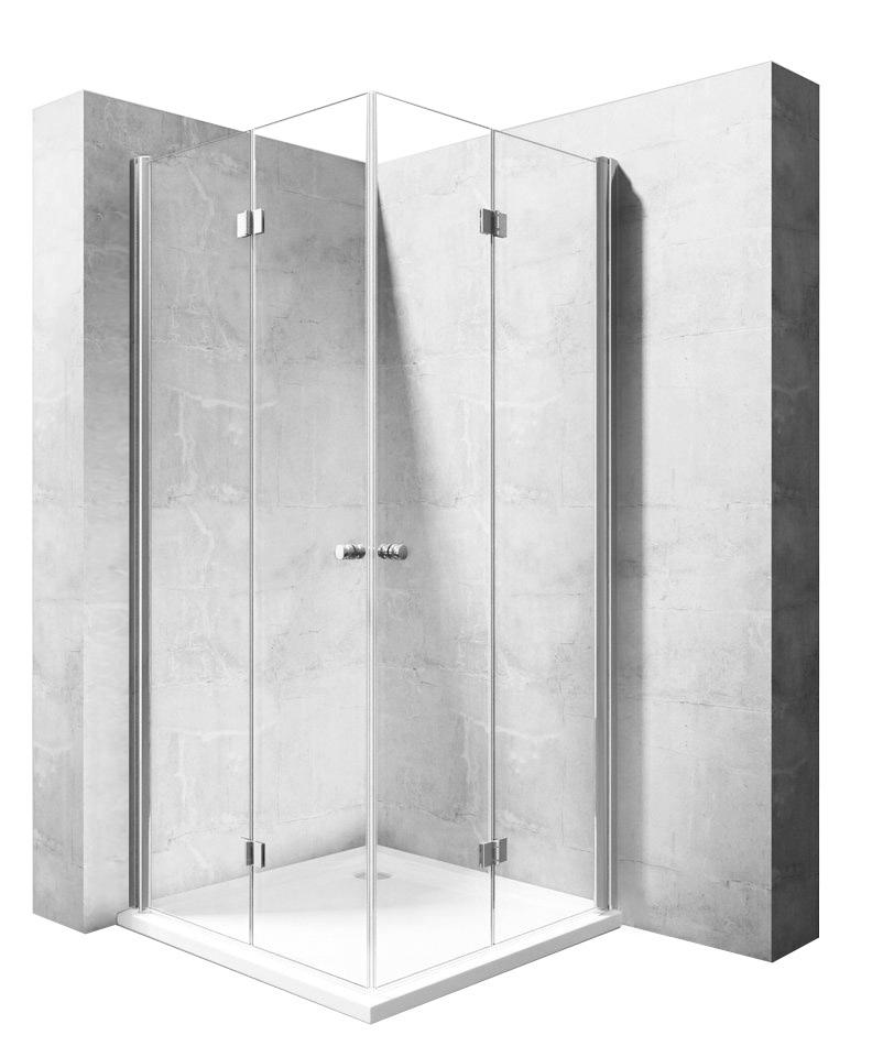 Sprchový kút, kompletný, skladací 80x80 SKLÁDANIE - REA