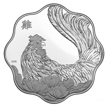 Kanada 2017 - 15 $ Lotus Lunar Kalendár rok ROOSTER