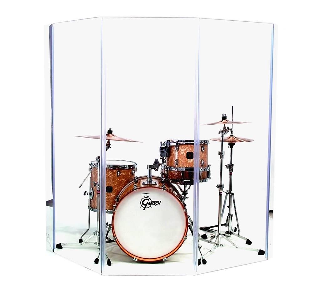 Akustická obrazovka s plexiskla 122 x 304 cm Krk