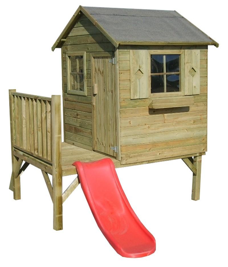 Drevený záhradný dom pre deti Tomek + Slide