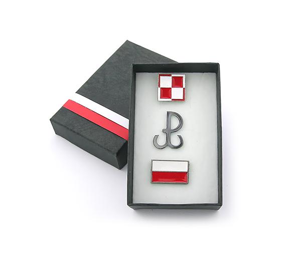 Item SET CHECKERBOARD MIDDLE POLAND FLAG-BOX