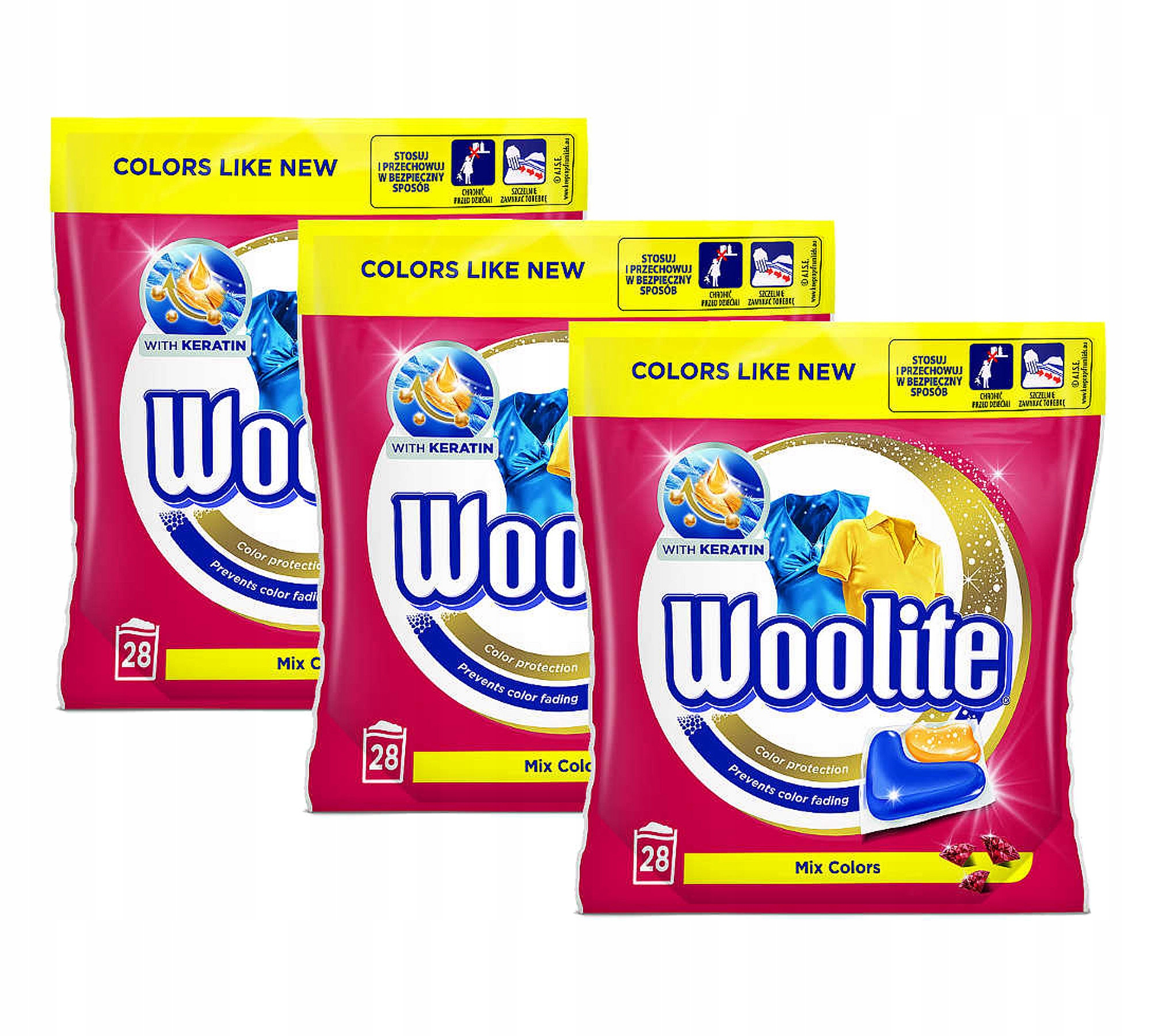 Woolite Mix Farby Kapsule na Pranie Color 84szt