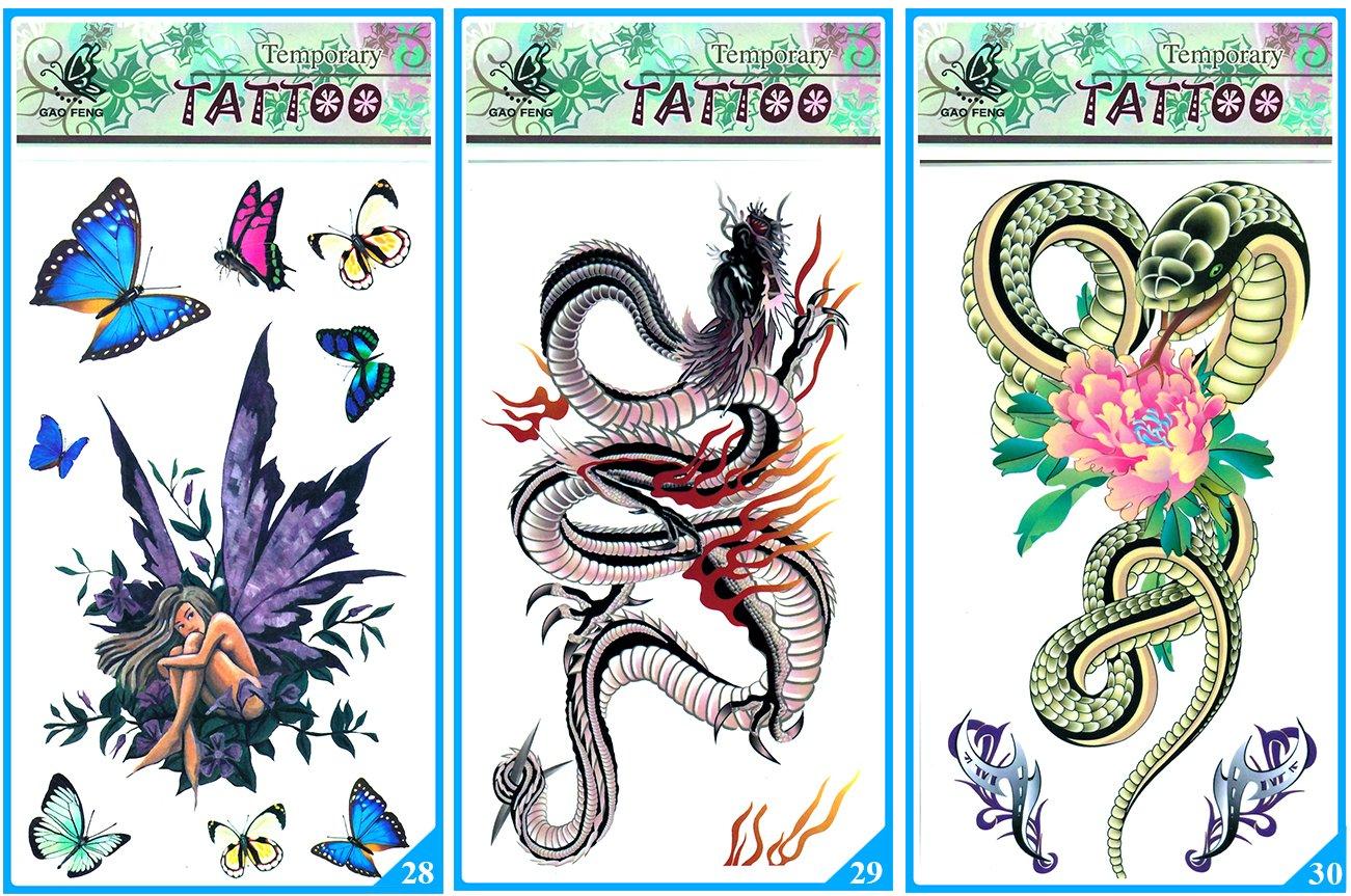 Tatuaż Naklejka Kalkomania Henna Flash Tattoo
