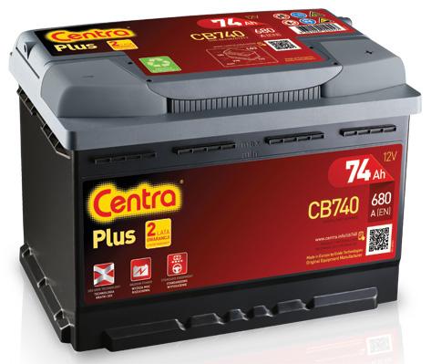 аккумулятор центры плюс 74ah 680a cb740 новый модель