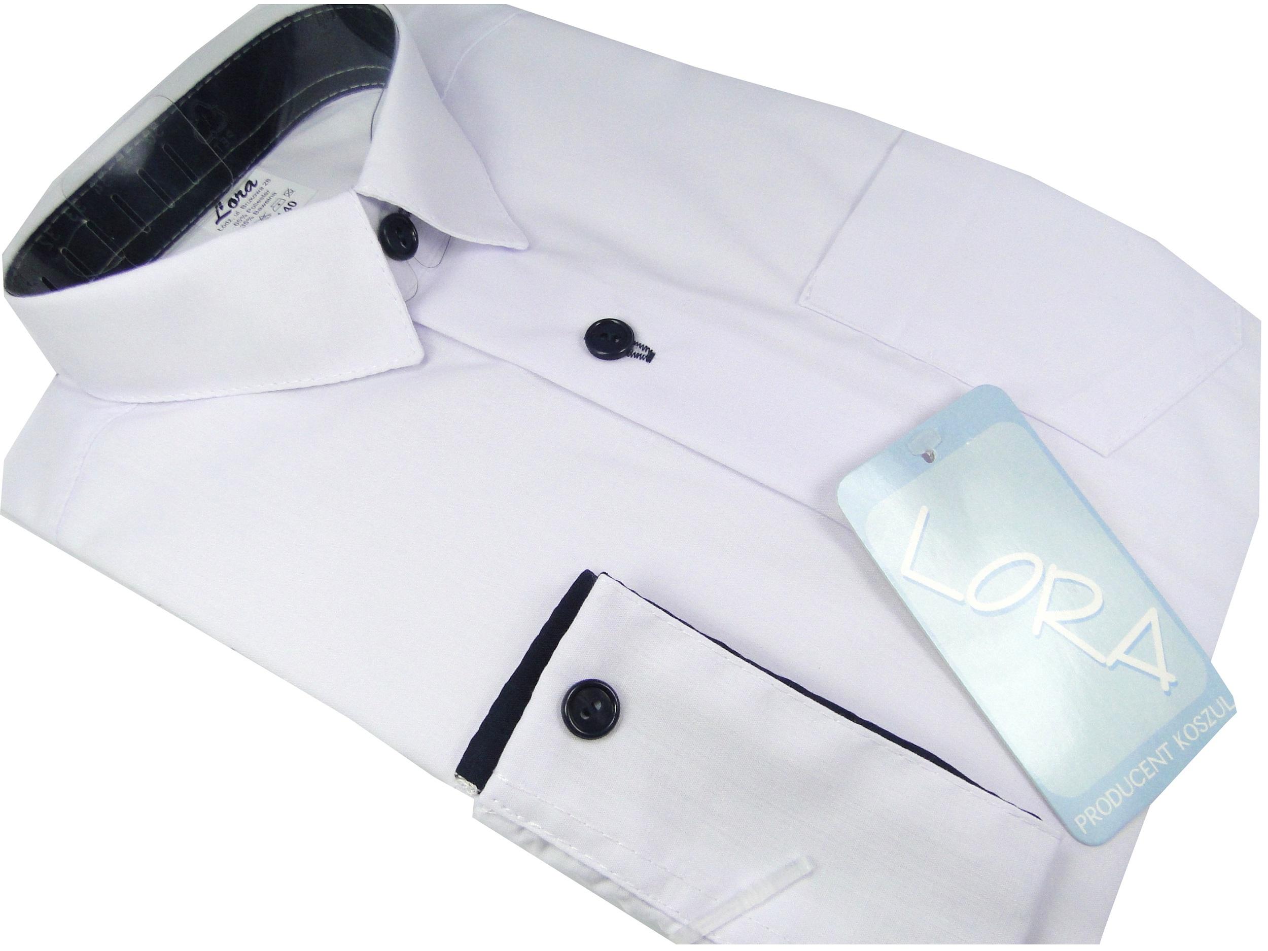 Tričko pre chlapcov wizytowa biele dlhý rukáv 116