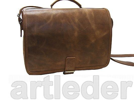Retro kožená taška LAPTOP 15.4 Tablet POLSKA